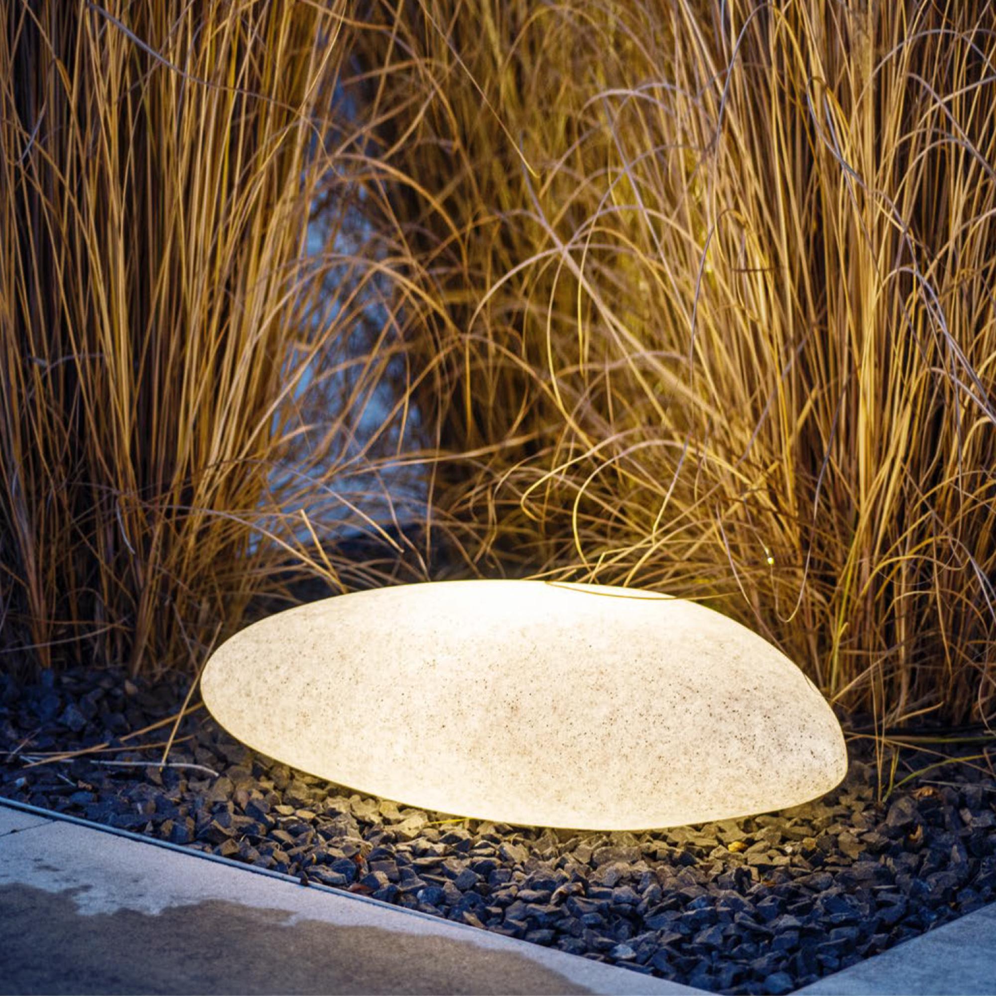 Gartenleuchte STONO in Steinform inkl. 9x LED E97 9,9W   Deko Steinleuchte  IP69 Granit Optik