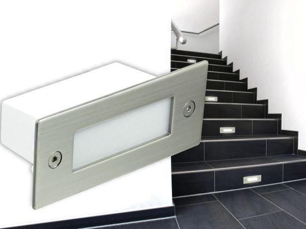 Edelstahl LED Einbauleuchte Piko für Wand, Boden oder Treppe - 1W 230V, IP54, neutralweiß oder warmweiß Lichtfarbe: Neutralweiß