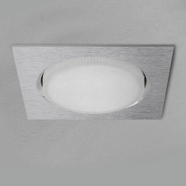 RX-4 LED Einbauleuchte extra flach Alu quadratisch inkl. GX53 LED 3,5W warmweiß – Bild 2