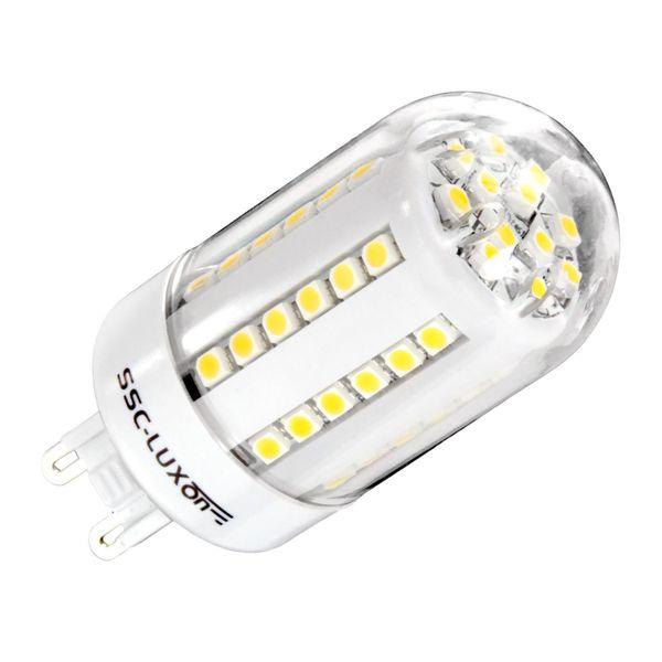 LED-Strahler mit 60 SMD LEDs, 3,5W, 230V, G9-Sockel, warm weiss, 180° Abstrahlwinkel