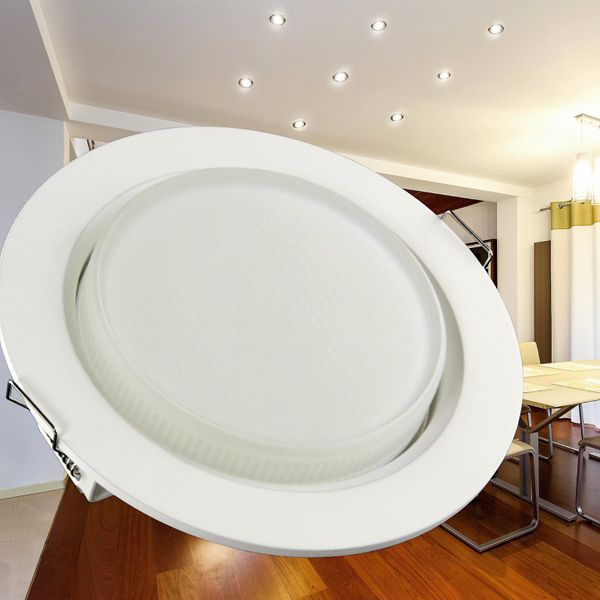 10 Stück RX-3 flache LED Einbauleuchten weiß rund inkl. LED GX53 3,5W warmweiss 230V – Bild 3