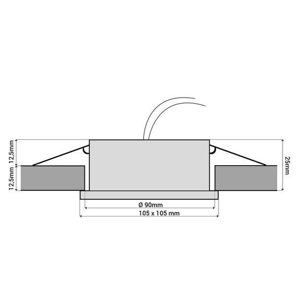 RX-4 LED Einbauleuchte flacher Einbaustrahler weiß inkl. LED GX53 3,5W warmweiß – Bild 4