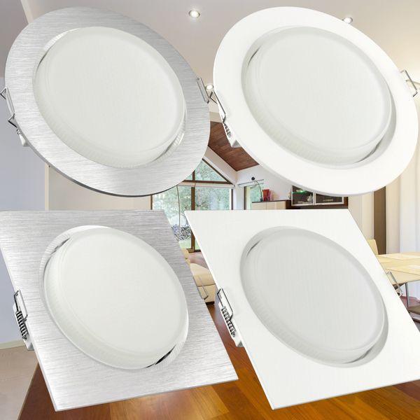 RX-4 LED Einbauleuchte flacher Einbaustrahler weiß inkl. LED GX53 3,5W warmweiß – Bild 6