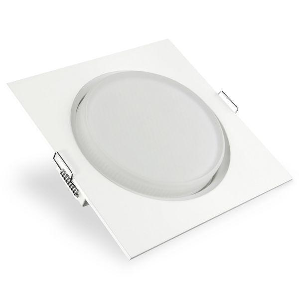 RX-4 LED-Einbauleuchte Einbaustrahler flach weiß inkl. LED GX53 5,5W neutralweiß Stückzahl: 1er Set