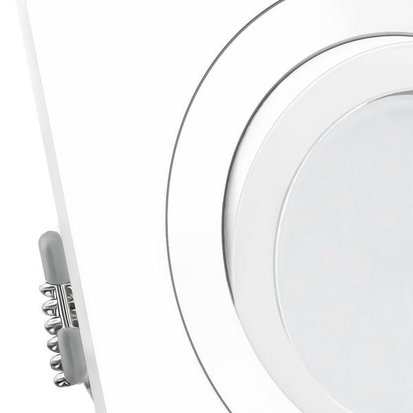 QF-2 LED Einbauleuchte Einbauspot in weiß & schwenkbar inkl. GU10 5W warmweiß LED – Bild 4
