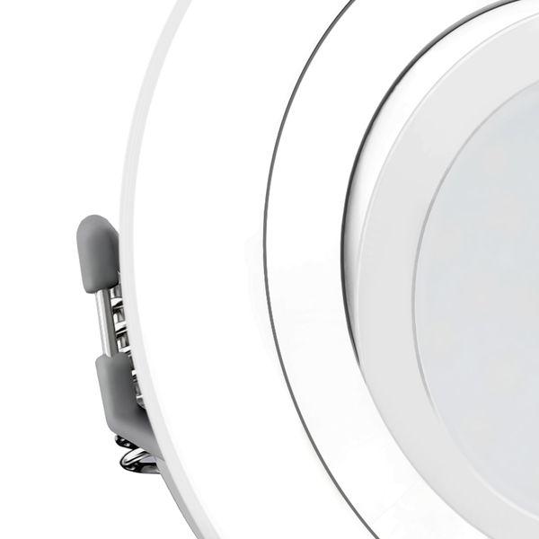 RF-2 LED Einbaustrahler schwenkbar in matt weiß rund inkl. Milky GU10 LED 5W warmweiß 230V Stückzahl: 1er Set – Bild 5