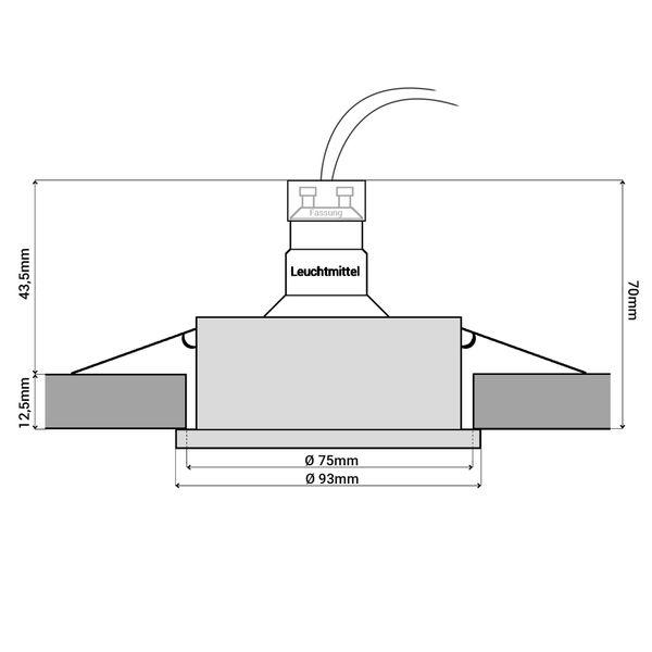 RF-2 LED Einbauspot schwenkbar in schwarz Alu rund inkl. Milky GU10 LED 5W warmweiß 230V – Bild 7