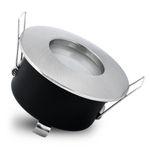 RW-1 LED Einbaustrahler Bad IP65 Edelstahl gebürstet inkl. 5W GU10 LED warmweiß 001