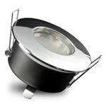 RW-1 LED Bad Einbaustrahler IP65 chrom glänzend inkl. LED GU10 5W warmweiß 230V 001