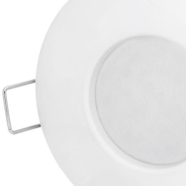 RW-1 runde LED Bad Einbauleuchte IP65 Spot matt weiß inkl. GU10 LED 5W warmweiß – Bild 4