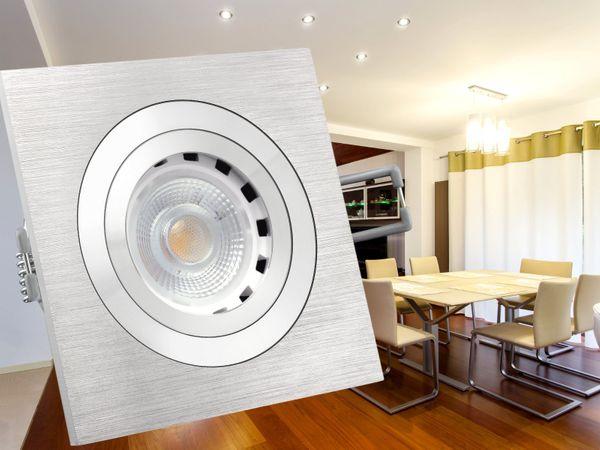 QF-2 Alu LED-Einbaustrahler Leuchte schwenkbar, 4,3W dimmbar, warm weiß, GU10 230V – Bild 4