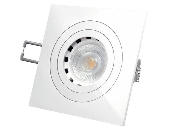 QF-2 LED-Einbaustrahler weiße Ausführung schwenkbar, 4,3W dimmbar, warm weiß, GU10 230V – Bild 2