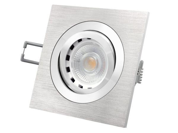 QF-2 Alu LED-Einbaustrahler schwenkbar dimmbar, LEDON 6W, 2700K warm weiß, GU10 230V
