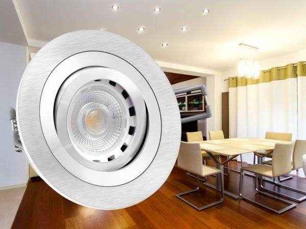 RF-2 Alu LED-Einbauspot schwenkbar, 6W LEDON dimmbar, warm weiß, GU10 230V, wie 50 Watt Halogen – Bild 3