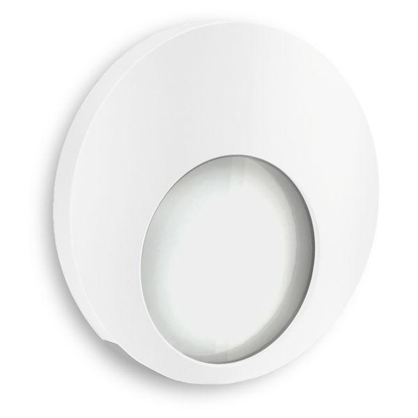 LED Wand-Einbauleuchte KAMA in Edelstahl, Graphit oder Weiß Treppenleuchte rund, 1W, 230V warmweiß – Bild 10
