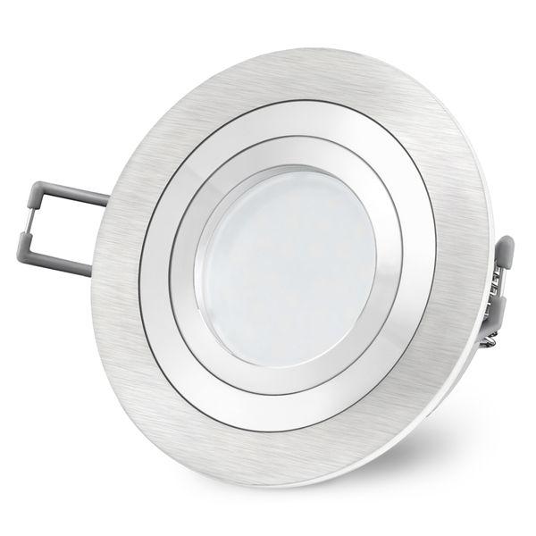 RF-2 LED Einbauspot Alu rund schwenkbar inkl. Milky GU10 LED 5W neutralweiß 230V – Bild 5