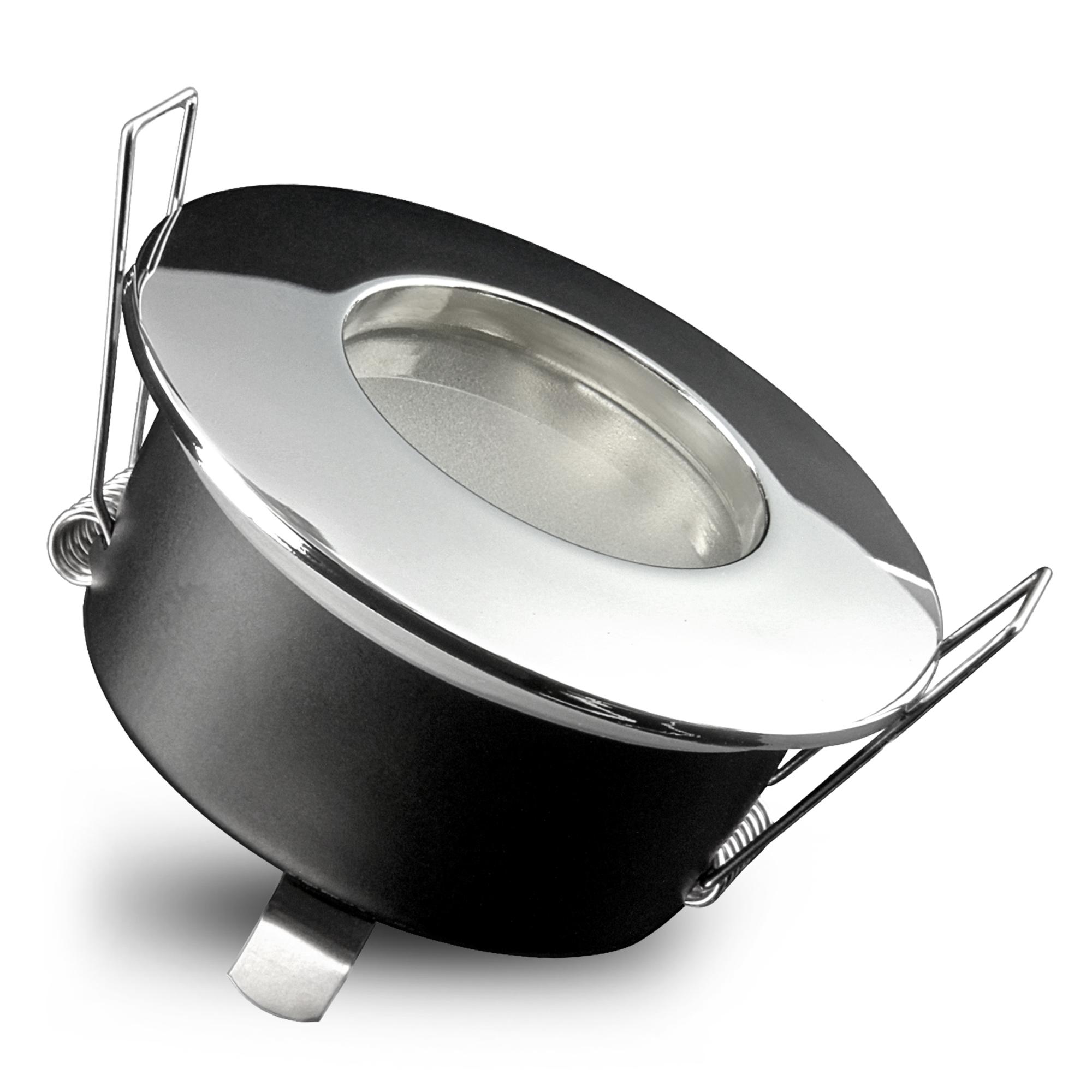 RW 20 LED Einbaustrahler Bad in Chrom glänzend IP20 Schutz inkl. LED GU200 20W  neutralweiß