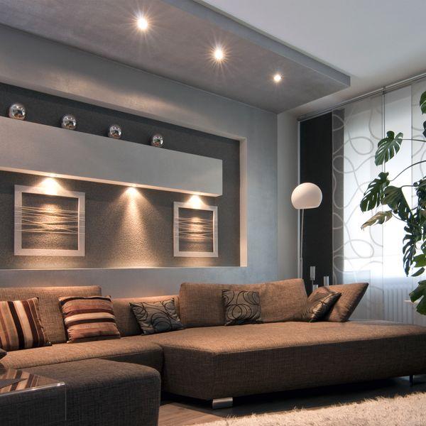QF-2 quadratische LED Einbauleuchte Alu gebürstet schwenkbar inkl. 6W LED GU10 warmweiß 230V – Bild 4