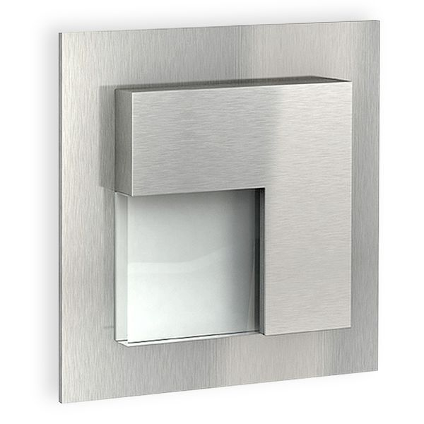 LED-Wandeinbauleuchte TAJO Edelstahl, Graphit oder Weiß Stufenleuchte quadratisch, für 60mm Unterputzdosen, CREE LEDs 1W, 230V IP20 warm weiß – Bild 2