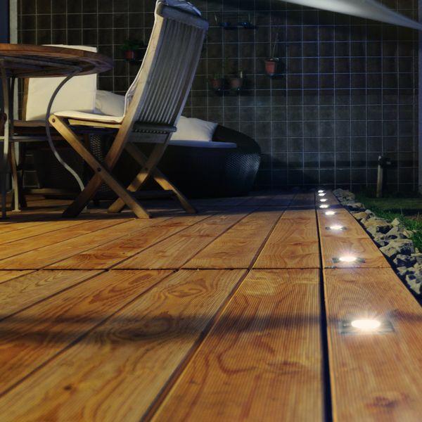 LED-Bodeneinbaustrahler MADON - quadratisch in Edelstahl gebürstet, IP65, 6W warmweiß, GU10 230V – Bild 4