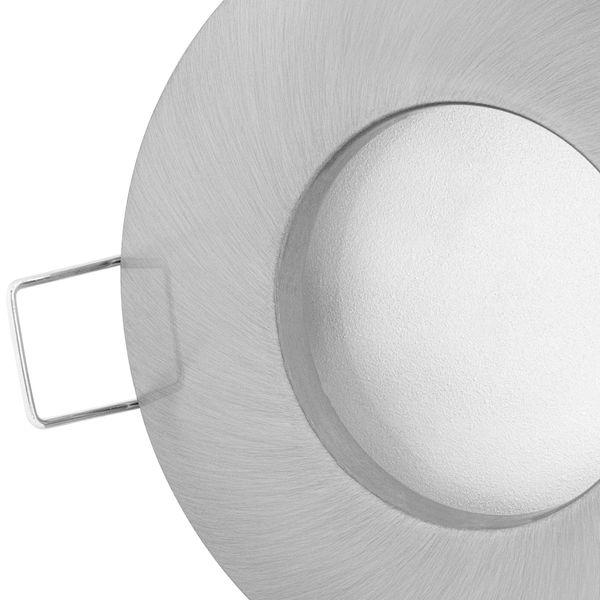 RW-1 LED-Einbaustrahler Edelstahl gebürstet, Bad Dusche Feuchtraum IP65, 6W LEDON LED dimmbar warmweiß – Bild 4