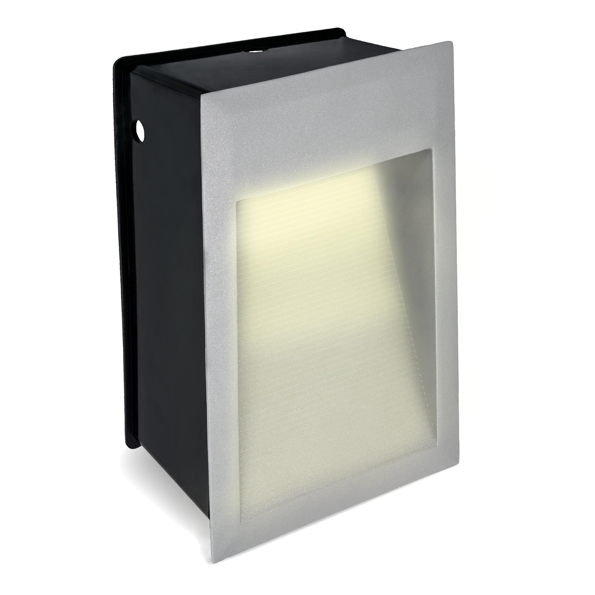 led wandeinbauleuchte treppenleuchte max j04 230v ip65 warmwei au en innen ebay. Black Bedroom Furniture Sets. Home Design Ideas