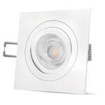 QF-2 LED Einbaustrahler weiß Alu eckig schwenkbar inkl. GU10 LED 5W warmweiß 230V 001