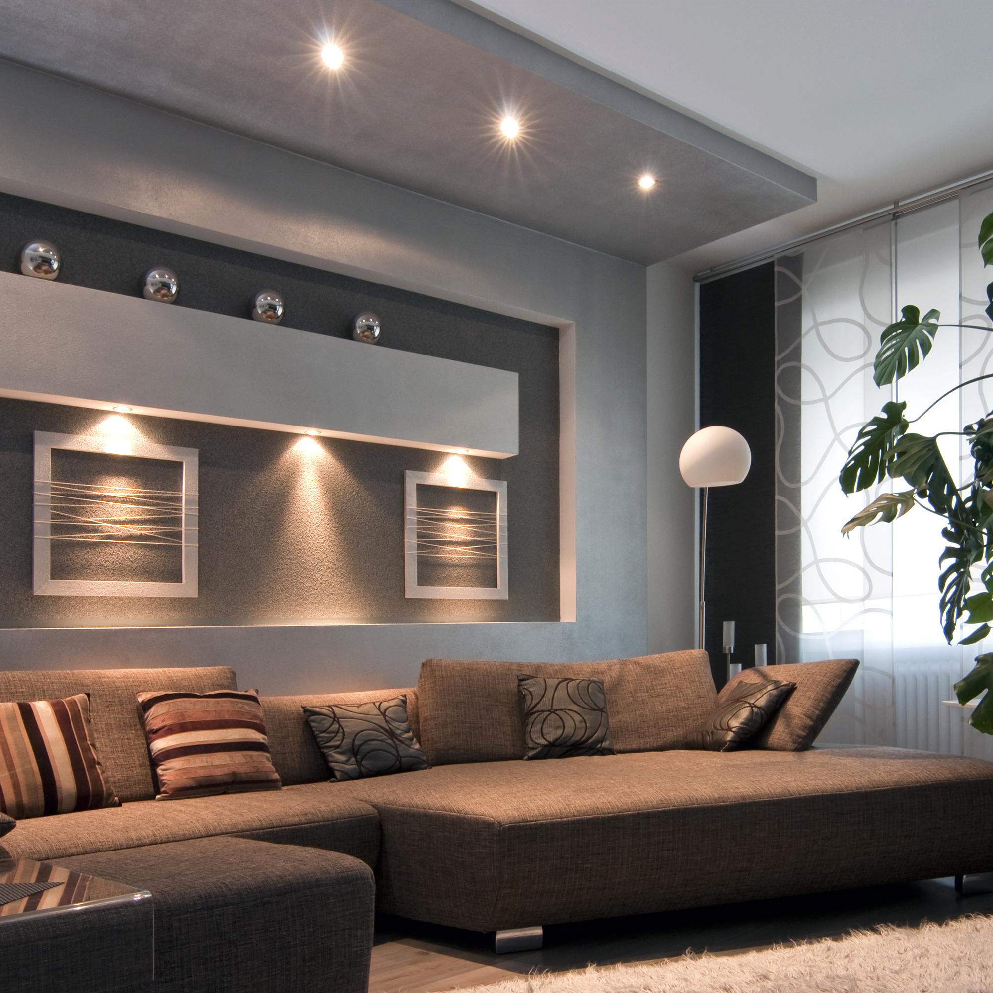 Pendelleuchte Glas GU20 LED schwarz Wohnzimmer Warmweiß